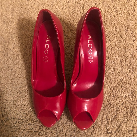 817a84edc40 Aldo 4 Inch Red Heels